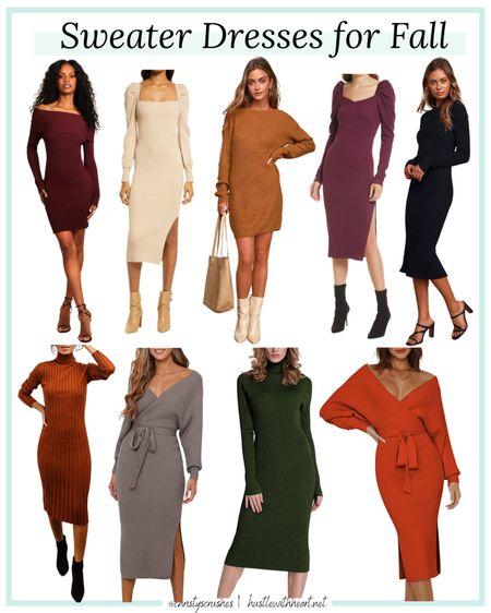 Affordable sweater dresses for fall   #LTKstyletip #LTKSeasonal #LTKunder50