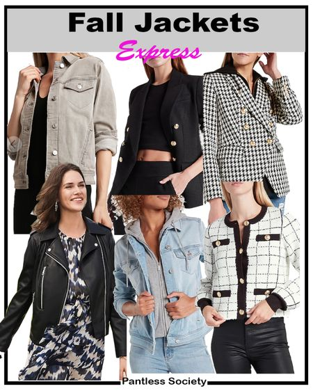 Early gifting sale. Back-to-school. Teacher outfits. Knit denim. Fall outfits. Express sale. $10 off $100. Stack your savings. XS in blazers. Fall shacket. Leather jacket. Fall closet. Black and white clothes. Black jacket.   #LTKworkwear #LTKSale #LTKsalealert