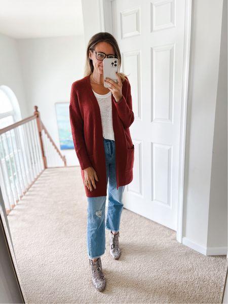 Fall fashion, sweater weather, cardigan, Amazon fashion, fall booties, casual t, blue light blocking glasses, casual weekend wear, loft  #LTKshoecrush #LTKworkwear