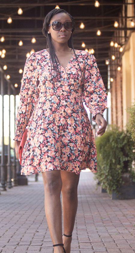 Light floral spring dress & block heel pumps. Perfect for brunch!   #LTKshoecrush #liketkit   @liketoknow.it http://liketk.it/39tH2