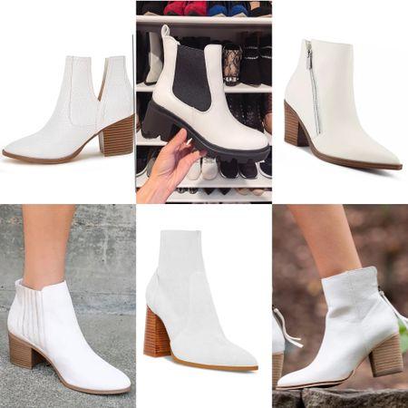 White booties for the fall; most under $50.   #LTKunder50 #LTKSeasonal #LTKshoecrush