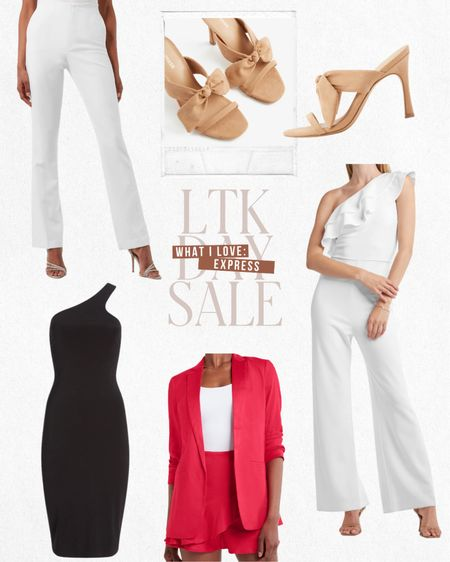 LTK DAY SALE — Exclusive in-app savings from Express. Get $10 off $100 when you shop these items and more directly through the LTK app!  — White jumpsuit (perfect for my brides) — Pink blazer — Black bodycon dress — White work pants — Neutral heels  #LTKsalealert #LTKstyletip #LTKDay