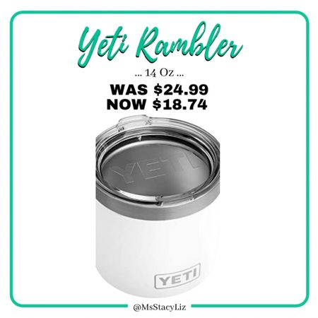 WHITE YETI on sale! http://liketk.it/36zyD #liketkit @liketoknow.it #yeti #giftidea #LTKunder50 #LTKsalealert