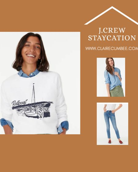 J. crew Staycation // 25 % off with code SHOPNOW Perfect transitional fall weather outfits in denim and cozy sweaters  #liketkit @liketoknow.it http://liketk.it/2Vkqp #LTKstyletip #LTKsalealert #LTKunder100 @liketoknow.it.brasil @liketoknow.it.europe @liketoknow.it.family @liketoknow.it.home Shop your screenshot of this pic with the LIKEtoKNOW.it shopping app