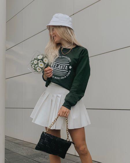 Outfit of the day💚 http://liketk.it/3k43a #liketkit @liketoknow.it #LTKstyletip #LTKunder50 #LTKeurope #asos #buckethat #green #trend #onsale #daisystreet #styleinspo #tennisskirt
