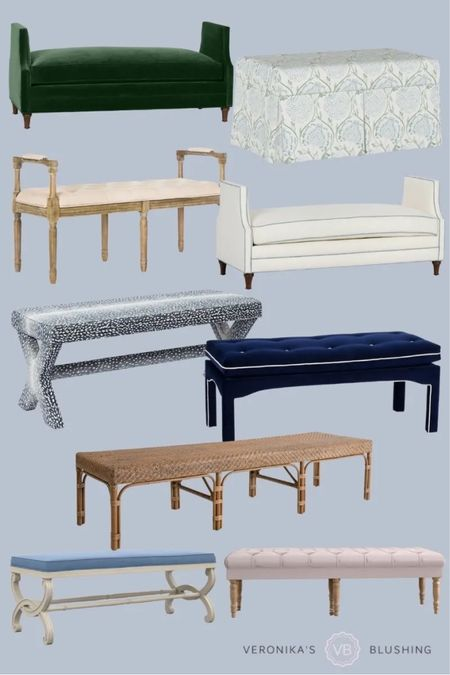 End of bed benches for your room!   #LTKhome