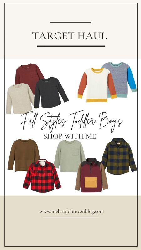 Target fall styles little boy edition   #LTKkids #LTKstyletip #LTKSeasonal