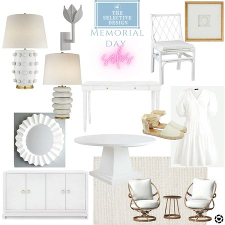 The Memorial Day sales have begun and there are some great ones!! Furniture, art, home accessories, rugs, lighting, lamps, clothes, women clothing, shoes, dresses, outdoor furniture   #LTKhome #LTKstyletip #LTKsalealert