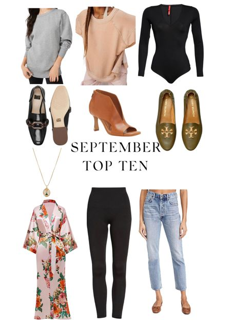 My September Top ten favorites!  Both bottoms run tts, all shoes run tts, the black body suit runs small, and the tan tunic runs super big!  #LTKsalealert #LTKstyletip