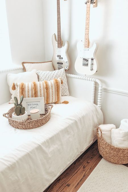The cutest throw pillows and baskets to freshen up our guest bedroom! @liketoknow.it #ad #walmarthome http://liketk.it/3k6WX #liketkit #LTKunder50 #LTKstyletip #LTKhome