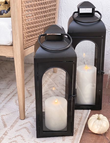 Affordable black metal lanterns for your front porch! Perfect for Halloween and year around ✨  #ad @walmart #walmarthome   #LTKSeasonal #LTKunder50 #LTKunder100