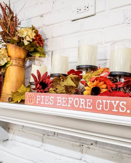 I mean - I just have to stay truthful to who I am as a person, right? And this sign spoke to me on a deeper level this morning. I just HAD to buy it! It also sparked a full mantle redesign - swipe right to see!  . . I just love the Fall and am totally ready now for the entire season. Picked up everything you see here from either @target or @homegoods. Kept it simple.  . .  http://liketk.it/2FLtp #liketkit @liketoknow.it #homegoods #homeinspo #homedecor #homedecorating #homedecoration #homedecorate #mantledecor #mantlepiece  #falldecor #falldecorations #falldecorating #hostess #LTKunder100 #LTKunder50 #LTKhome