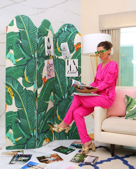 Banana leaf lovers rejoice! For a limited time @CWStockwell is available at @TheInside,  including the iconic Martinique banana leaf print! You can get it on everything from pillows to sofas to scalloped screens like this one that I love using as a vision board. 💕💕   Head to my Stories to shop the collection + get $50 off your order of $199+ with code GOLIGHTLY50.   p.s. You can also shop more of my faves here: https://www.kellygolightly.com/shop-instagram/   Or just tap the link in my bio & click Shop My Instagram.   http://liketk.it/3iCKW #liketkit @liketoknow.it #LTKhome #LTKunder100 #LTKshoecrush @liketoknow.it.home   #homedecor #bananaleaf #palmprint