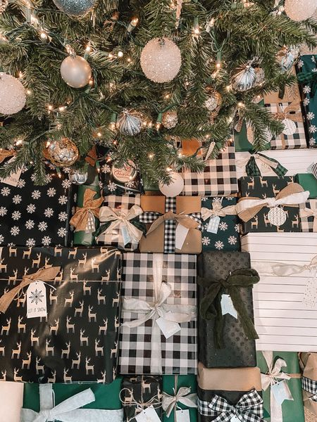Christmas wrapping presents! I linked everything to my tree. The ribbons are from michaels and the wrapping paper is from target. Those I can't find online, but you can go to your local stores!  http://liketk.it/34ofx #liketkit @liketoknow.it #LTKhome #LTKunder50 #StayHomeWithLTK