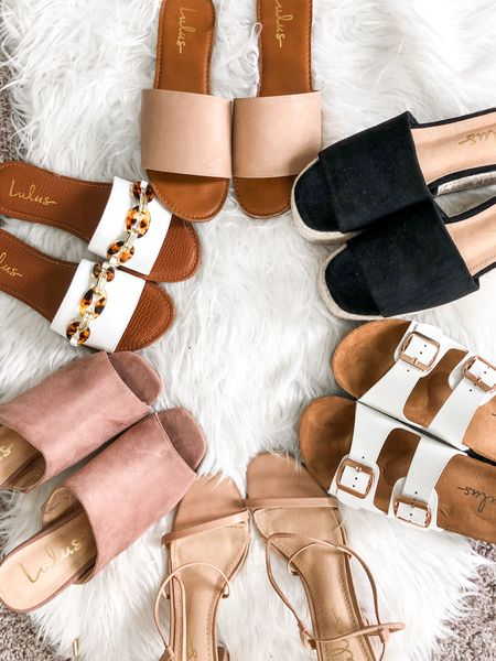 Lulus Spring Shoe Haul 🤍✨ heels, sandals, miles, slides, platforms, Birkenstock dupes - literally they have it all and it's SO AFFORDABLE! Everything is under $40 👏🏽 also all TTS, I have a 6.5 in each pair 🤗 http://liketk.it/3g3y3 #liketkit @liketoknow.it #LTKunder50 #LTKunder100 #LTKshoecrush