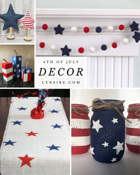 4th of July decor for your home. Some are low in stock so don't miss out!  #LTKunder50 #LTKhome #LTKSeasonal