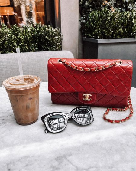 Love my red Chanel handbag! Linked similar styles. This one is vintage. Also linked a similar style to my Celine sunglasses. #liketkit #fashionjackson  #LTKsalealert #LTKunder100 #LTKitbag