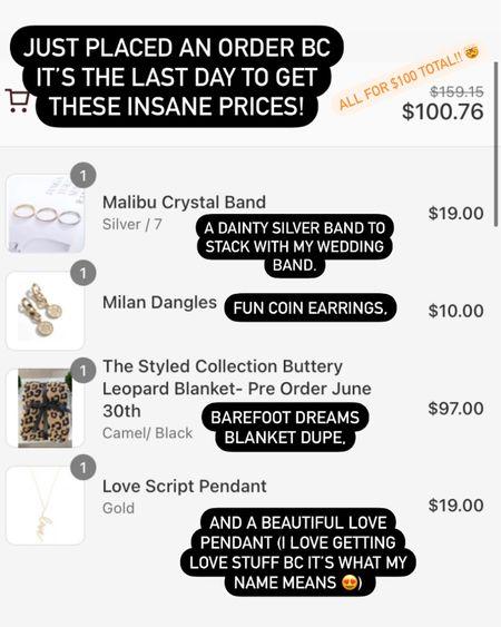 Crazy jewelry sale + barefoot dreams blanket alternative 👉🏼 http://liketk.it/3hvH2 #liketkit @liketoknow.it #LTKunder100 #LTKsalealert #LTKstyletip
