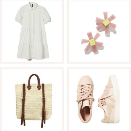 Affordable white dress with a collar, pink accessories, and a rattan backpack. Look cute and feel comfy white running errands! @liketoknow.it #liketkit #LTKunder50 #LTKunder100 #LTKtravel http://liketk.it/3edCE