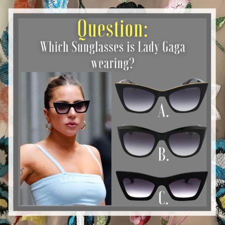 Can you tell which #sunglasses is Lady Gaga wearing?   #LTKsalealert #LTKeurope #LTKstyletip