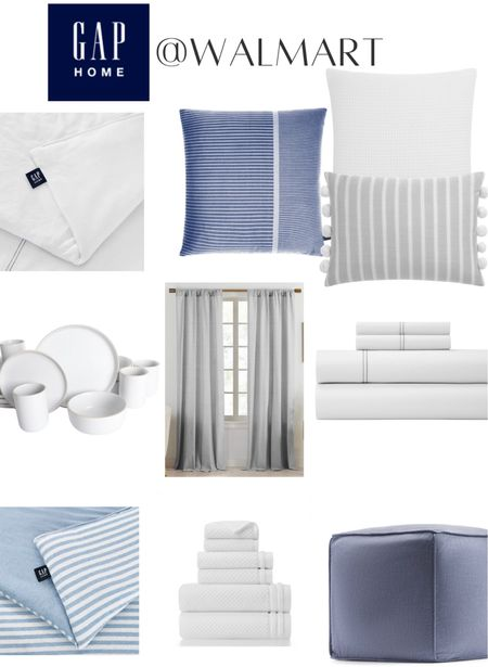 Shop the new Gap Home Collection at Walmart! Bedding, linens, towels, neutral decor, throw pillows,  Walmart home   #LTKsalealert #LTKhome #LTKfamily