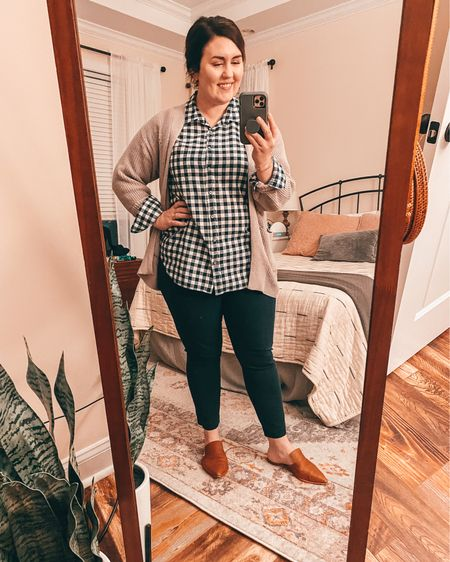 Happy Friday!  This is my casual Friday outfit for this week.  I could easily switch the pants for jeans after work, and the mules for converse sneakers and be ready for the weekend!  #LTKfit #LTKSeasonal