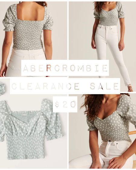 Abercrombie & Fitch ONE DAY CLEARANCE SALE! Snag this short sleeved mock waist top just $20 - 24!  Follow me on the LIKEtoKNOW.it shopping app to get the product details for this look and others!   http://liketk.it/3dtg6 #liketkit @liketoknow.it   #cheeryandcharming #LTKunder50 #LTKsalealert #LTKbeauty #LTKfit #style #fashion #abercrombie #abercrombieandfitch #clearance #sale #salealert