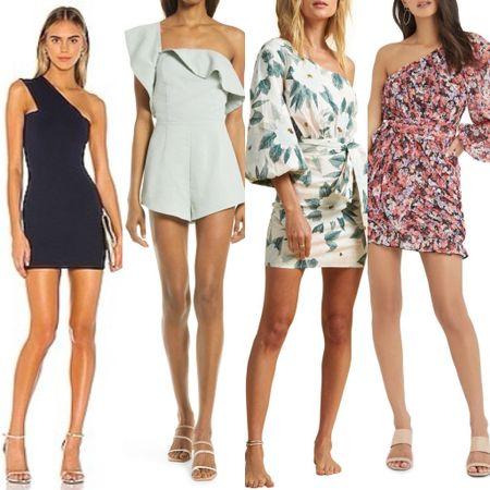 One shoulder dresses #liketkit @liketoknow.it http://liketk.it/3igkh #LTKunder100 #LTKunder50 #LTKwedding