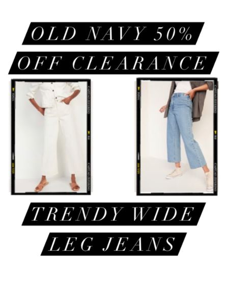 Snag these trendy wide leg jeans from Old Navy with an additional 50% off clearance! #LTKSpringSale #LTKstyletip #LTKunder50 #liketkit @liketoknow.it http://liketk.it/3b4Jl
