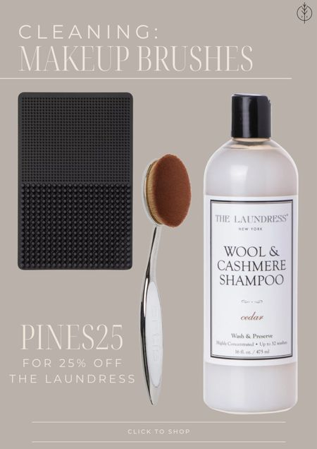 What I use to clean makeup brushes (the same shampoo for my cashmere sweaters!) PINES25 gives 25% off The Laundress at checkout.   #LTKsalealert #LTKbeauty