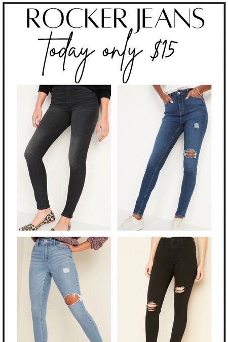Rocker jeans #thedailydupes  #LTKsalealert #LTKunder50