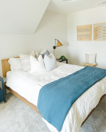 Guest bedroom reveal on thesouthernsource.com. Coastal-inspired guest bedroom that will make your travelers feel right at home. http://liketk.it/3jOgR #liketkit @liketoknow.it