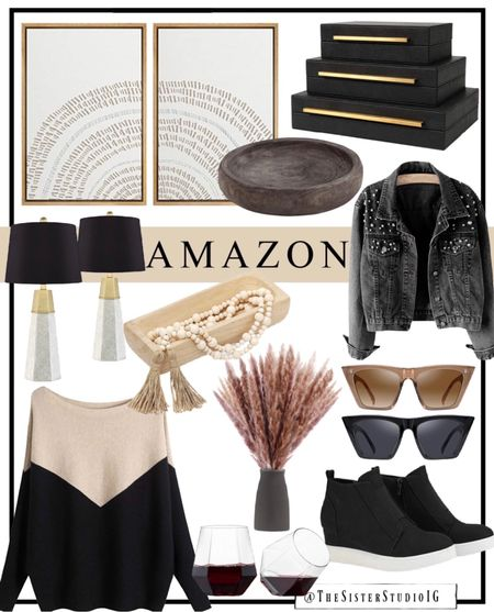 Today's Amazon finds! New home decor finds, sunnies, and fall items.🖤     #LTKhome #LTKstyletip