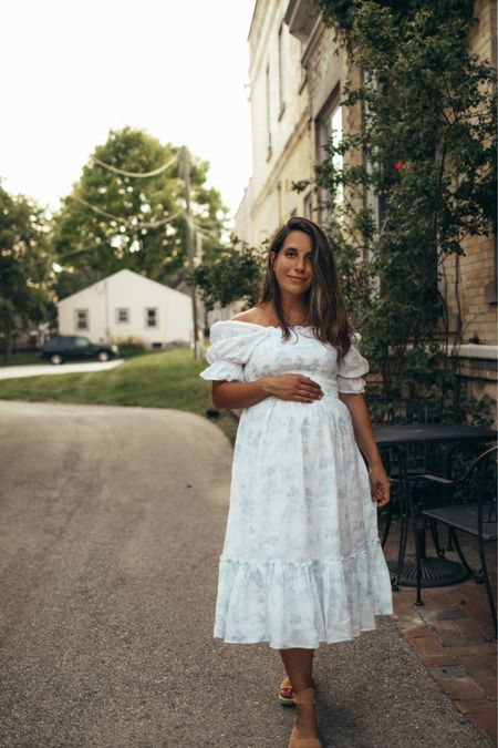 Most dreamy summer dress! I will take this dress on my next vacation! Works as a maternity dress if you want to! Summer dress. Vacation outfits. Baby shower dress.   #LTKfamily #LTKSeasonal #LTKbump