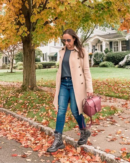 Easy fall look. Combat boots, trench coat, fall style, casual style   http://liketk.it/2ZMiD #liketkit @liketoknow.it #LTKunder100 #LTKstyletip #LTKitbag
