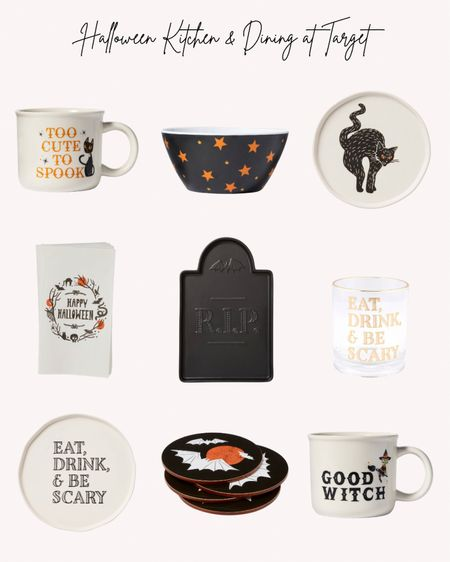 Halloween tableware, dining and kitchen, black cat, mugs, platter, plates, napkins, coasters, bowl  Follow me for more ideas and sales.   Double tap this post to save it for later.   #LTKunder50 #LTKSeasonal #LTKHoliday