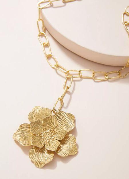 Stylist pick: Flower necklace by Anthropologie 🌸  #LTKwedding #LTKstyletip #LTKunder50