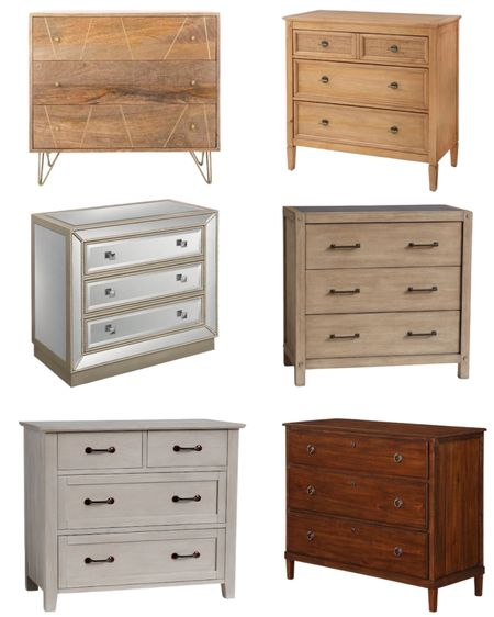 These dressers make great night stands. Choose your style. Wood dresser, glass dresser   #LTKfamily #LTKhome #LTKstyletip