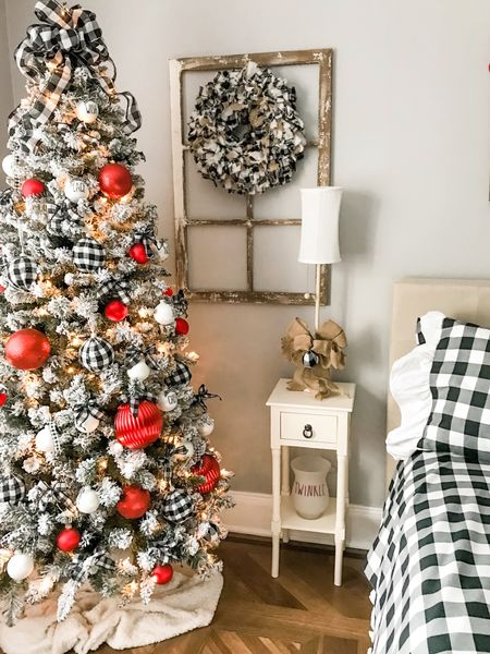 Guest room is ready for the holiday with flocked tree and lots of buffalo check ! http://liketk.it/2HYFM #liketkit @liketoknow.it #LTKholidayathome #LTKholidaystyle #LTKhome @liketoknow.it.home Screenshot this pic to get shoppable product details with the LIKEtoKNOW.it shopping app