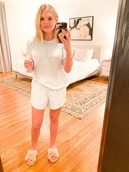 It's been a week. Tonight's look - complimentary of the softest smocked pjs you've ever seen {and rosé for mama!}.   #LTKunder100 #LTKSpringSale #LTKstyletip