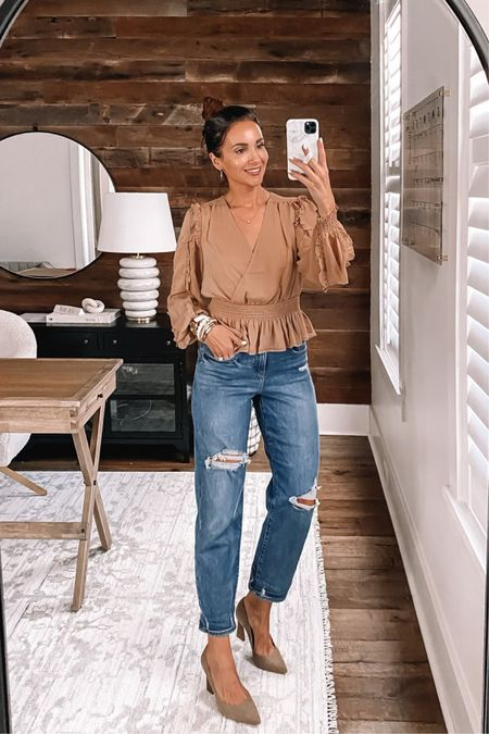 Express finds - blouse in xs, jeans bogo 50% off - wearing size 2 #anna_brstyle  #LTKsalealert