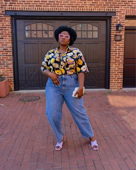 It's everything for me colors, prints and joy to be outside with a mask of course. Safety over stunning always. Ps: I am actually wearing a man shirt .  Follow me on Instagram @wonder.fro for more looks and pictures   #LTKstyletip #LTKcurves #LTKshoecrush