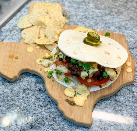 Totally Bamboo Texas State Shape Board to serve my Quesadilla Burger. #Texas #Boards #Bamboo #Home @amazon   #LTKunder50 #LTKhome