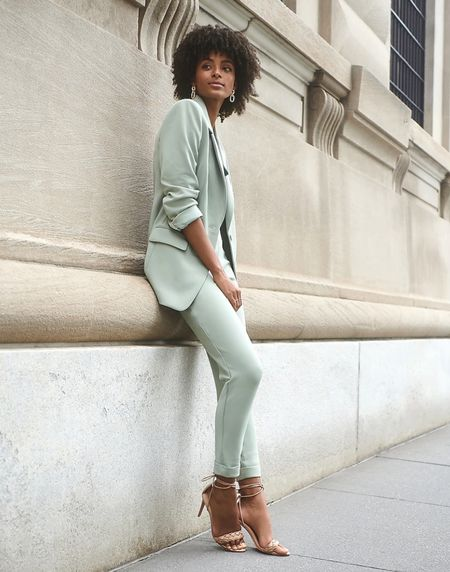 ✨🚨Fall Workwear for Less: Brushed Sage Suit Set at Express🚨✨ | Workwear | Business Casual | Chic Business Casual | Suit Set | Back to School | Fall Fashion | Under $100 | Business Outfit | Fall Outfit | Professional Workwear |   #LTKunder100 #LTKworkwear #LTKstyletip