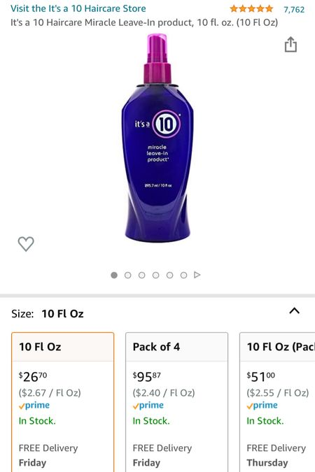 This is a lifesaver when it comes to my hair after the shower. I highly recommend getting it. It helps detangle, condition, and is even a heat protectant!  #LTKbeauty #LTKstyletip #LTKhome