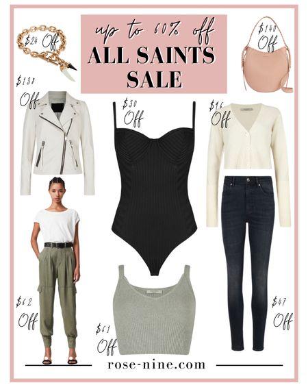 All Saints Sale up to 60% off! Save hundreds on super cute bags, leather jackets, bodysuits, pants and more #LTKsalealert #LTKitbag #LTKstyletip #sale #allsaints #liketkit @liketoknow.it http://liketk.it/3f5Va