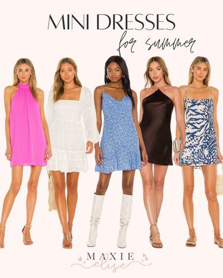 Mini Dresses From Revolve For Summer ☀️  #minidress #revolve #summerdress #whitedress #littleblackdress #summeroutfits #summerfashion #revolvedress #revolveclothing  #LTKSeasonal #LTKstyletip