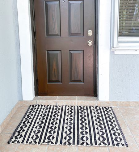 Getting prepped for fall home decor! In love with this accent rug. Switching it between the front door and back patio. Such a good price, and could be easily layered with a cute fall doormat.   #LTKhome #LTKunder50