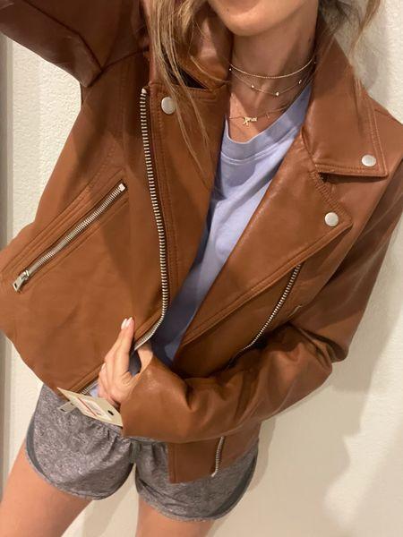 Moto jacket on sale size Xs   #LTKsalealert #LTKunder100 #LTKstyletip