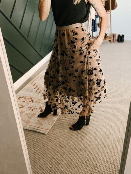 Best boots and skirt mix!! #walmart   #LTKshoecrush #LTKunder100 #LTKwedding